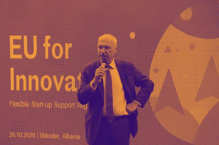 German Ambassador Peter Zingraf visits Flexible Start-up Support Accelerator in Shkoder
