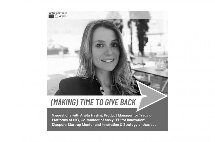 """Making time to give back"" with Arjeta Haskaj"